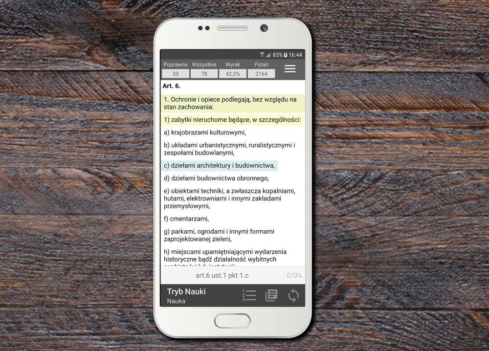 Inteligentne podpowiedzi - Aplikacja Uprawnienia Budowlane na Android