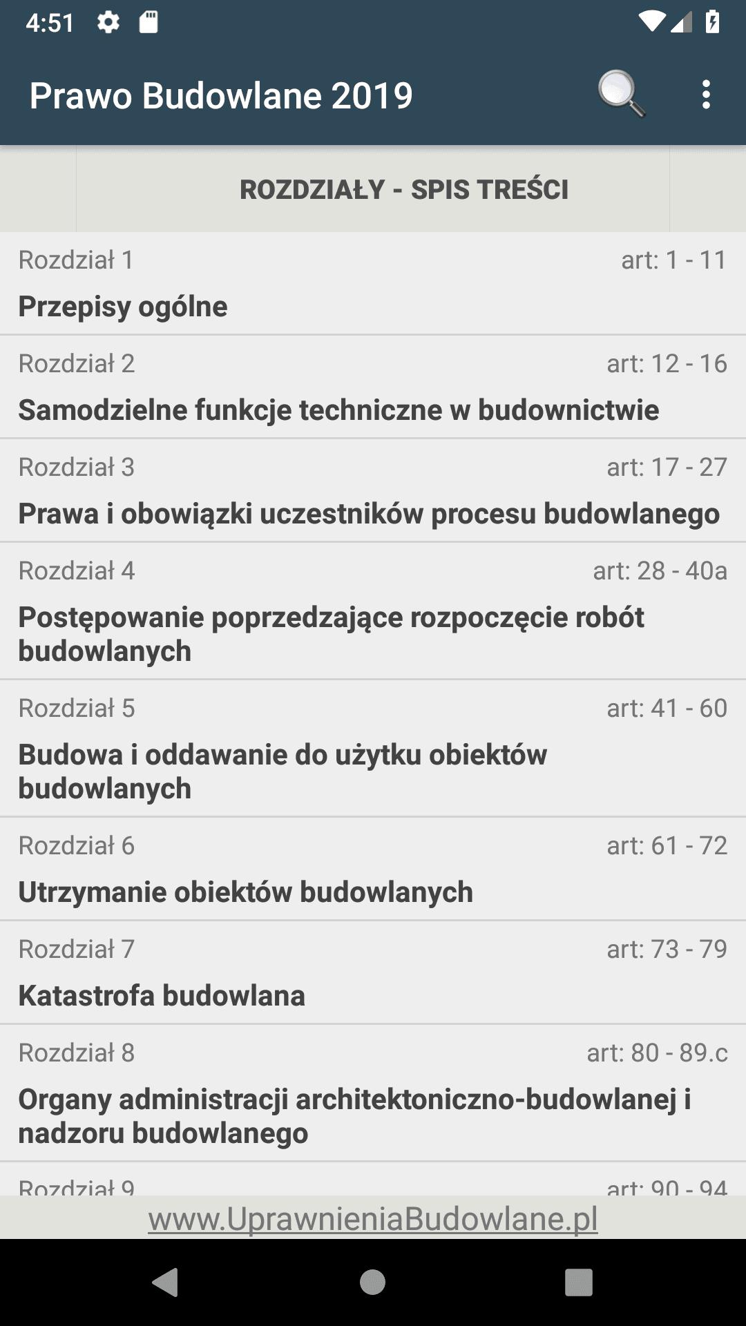 aplikacja prawo budowlane android